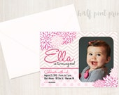 Pretty In Pink Custom Photo Birthday Invitation