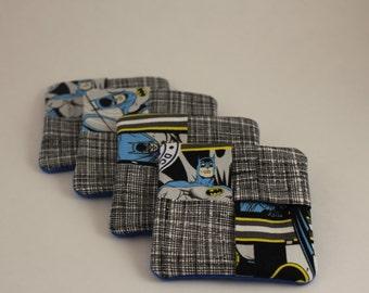 Batman Fabric Drink Coasters Set of 4