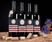 4th of July Wine Labels, July 4th wine labels, Patriotic wine labels, Americana Wine Labels, . Set of 20