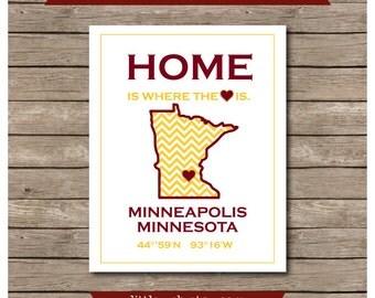 Minneapolis, Minnesota Gophers University of Minnesota Gophers Printable, Gopher Art Print