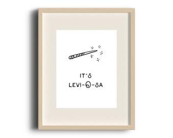LeviOsa, Harry Potter Print, Harry Potter Quote, Hermione Granger, Hermione Quote, Harry Potter Art, Harry Potter Gift, Funny Harry Potter