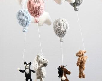 Baby Mobile, Cloud Balloon Mobile, Horse Mobile, Bear Mobile, Balloon Hanging Mobile, Animal Mobile, Traveler Decor, Dog Baby Mobile, Pet