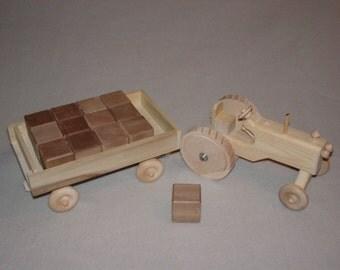 Tractor Dump Wagon Block Set