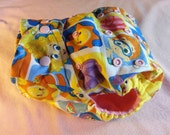 SassyCloth one size pocket diaper with bubble guppies cotton print. Ready to ship.