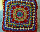 Mad for Mandala Crochet Pillow Pattern Instant Download Home Dec Redecorate DIY 16 inch Tribal