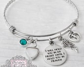 Cremation Jewelry, Cremation Bracelet- Pregnancy Loss, Remembrance, Mom Memorial, Loss of Daughter, Hold you in my heart, Wing, Bereavement