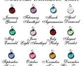 Add on Birthstone Charm- Swarovski Crystal Birthstone Month- Birthstone charms- Birth Charm, Add to Bangles, Necklace, or Keychain