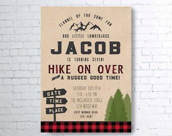 Little Lumberjack Birthday or Shower Invite
