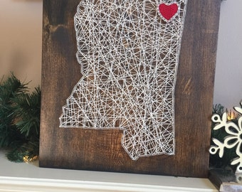 Made to order Mississippi string art
