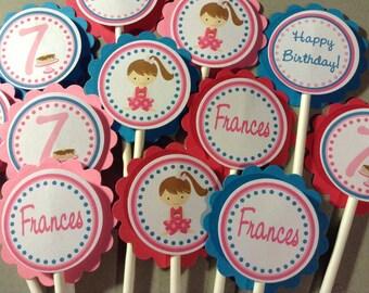 Pancakes and Pajama's Cupcake Toppers