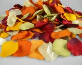 500 Fall Harvest Wedding Rose Petals, Artificial Petals - Tossing Petals - Aisle Decoration - Autumn Colors