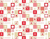 Ooh La La Riley Blake  Fabric Yardage, Ooh La La PLATE RED