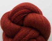 Recycled Fine Merino Lace Weight Yarn, Mahogany Rust Merino Yarn