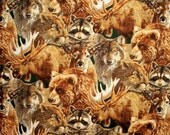 Robert Kaufman Wilderness Ridge Animal Fabric By The Yard Quilting Sewing Fabric