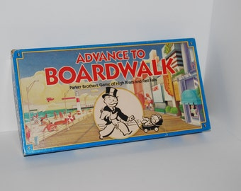 Game0164 Advance to Boardwalk Vintage Game by Parker Brothers 1985 Blue Box