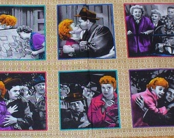 I Love Lucy Panel, Going to Hollywood, Lucy Squares, Lucy Panel, Lucy and Ricky, Fred and Ethel