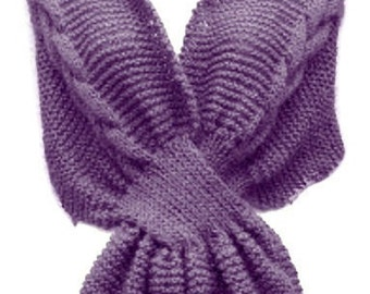 Knit Stole With Braid Cable, PDF Pattern Shoulder wrap, Shawl Knitting Pattern Is not a finished product. It is a PDF Pattern