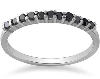 Black Diamond Ring 10K White Gold1/3ct Black Diamond Ring 10K White Gold