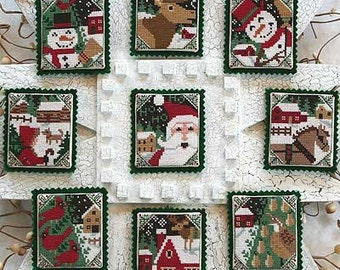 OOP Snowy Nights Book No. 166 : Prairie Schooler counted cross stitch patterns Christmas December Winter embroidery