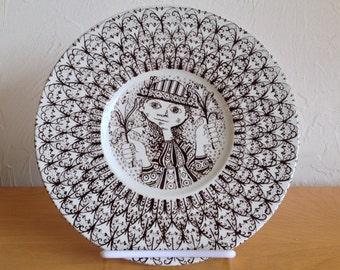 Bjorn Wiinblad Decorative Plate Nymolle