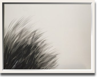 Original minimal abstract art 24x18 inches on heavy art paper, titled SEA GRASS