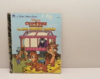 Chip 'N Dale  Rescue Rangers The Big Cheese Caper  --  Little Golden Book  -- Walt Disney -- 1991