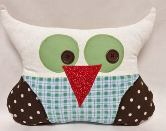 Owl Softie, Owl Pillow, Plush Owl