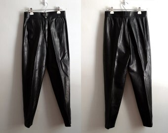 Vintage 80s Thierry Mugler Lambskin Leather Pants