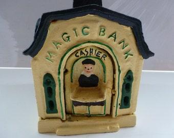 Vintage Magic Bank Vintage Cast Iron Magic Bank Cast Iron Piggy Bank