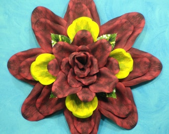 Red and Yellow Paper Wallflower Wreath