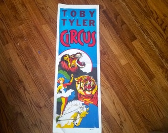 Use CODE50 for 50% OFF Vintage Toby Tyler Blue Circus Poster, 1960s
