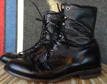 Vintage Justin Roper boots USA men's 10EE