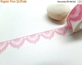 Pink Lace Washi Tape,  15mm x 10m Shipping End of July 2016