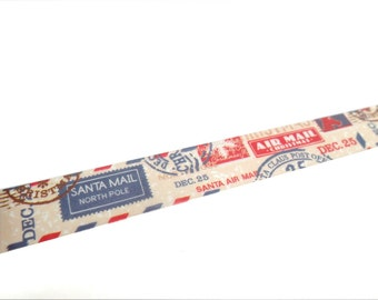 Christmas Washi Tape, Airmail Washi Tape, Santa Washi Tape