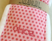 Personalize your burp cloth set - add a name to your burp cloths