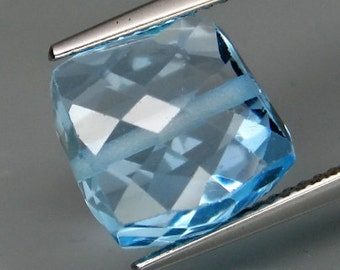 Very Different Drilled, Sky Blue Topaz, Fancy Shape Faceted Bead, 11 x 11 x 8 MM , 10.57 Carat