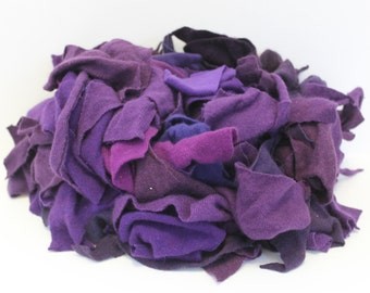 Recycled Cashmere Remnants - Grape Purples 16oz
