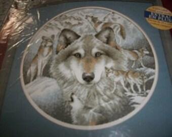 Circle of Wolves Cross Stitch Kit