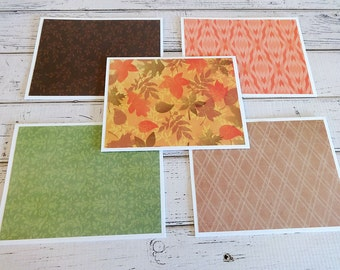 Blank Note Cards, Set of 6 Note Cards with Matching Envelopes, Note Card Set, Blank Note Card Set, Fall Cards, Autumn Leaves