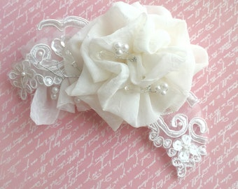 Wedding Hair Piece, Bridal Hair Clip, Handmade Hair Clip