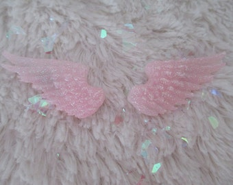 Angelic Wing Clips {sugar pink}