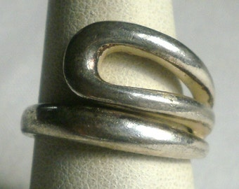 Vintage Sterling Silver Ring-Size 7 3/4