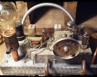Time Machine Experiment #63 , Desk Lamp, Industrial Light, Table Lamp