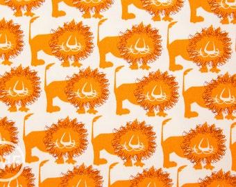 Hokkoh Lions in Orange, Hokkoh Fabrics, 100% Cotton Twill Fabric, 71-205-3A