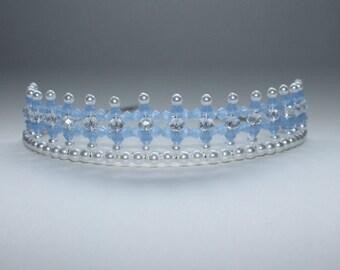 Pretty Light Blue Tiara, Birthday Tiara, Princess Tiara, Something Blue Tiara