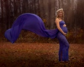 Chevy royal blue lace/chiffon slim fit maternity gown/trumpet gown/mermaid gown/bridal gown/senior prop/modeling