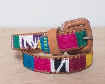 24 waist | James Halbert Guatemalan Woven Cotton Skinny Belt
