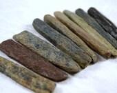 "9 fossil bone sticks (2.25"" to 2.5"") ancient marine animals (no.v9)"