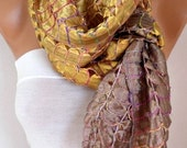Silk Scarf,Christmas Gift, Oversized Scarf Cowl Scarf Shawl Bridal Acessories Gift Ideas For Her Women Fashion Accessories