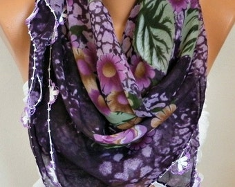 Turkish Anatolians Floral Cotton Scarf,Bohemian,Oya Yemeni  Cowl Necklace Gift Ideas For Her Women Fashion Accessories